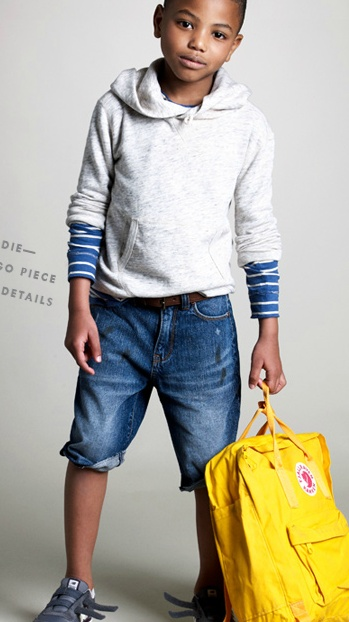Great idea for too-short jeans. This combo looks sharp.