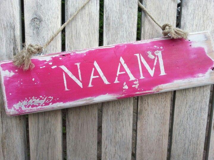 Naambordje Slaapkamer : 1000+ images about Hobby on Pinterest Van, Met ...