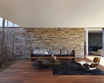 revestimiento piedra casa minimalista - Buscar con Google