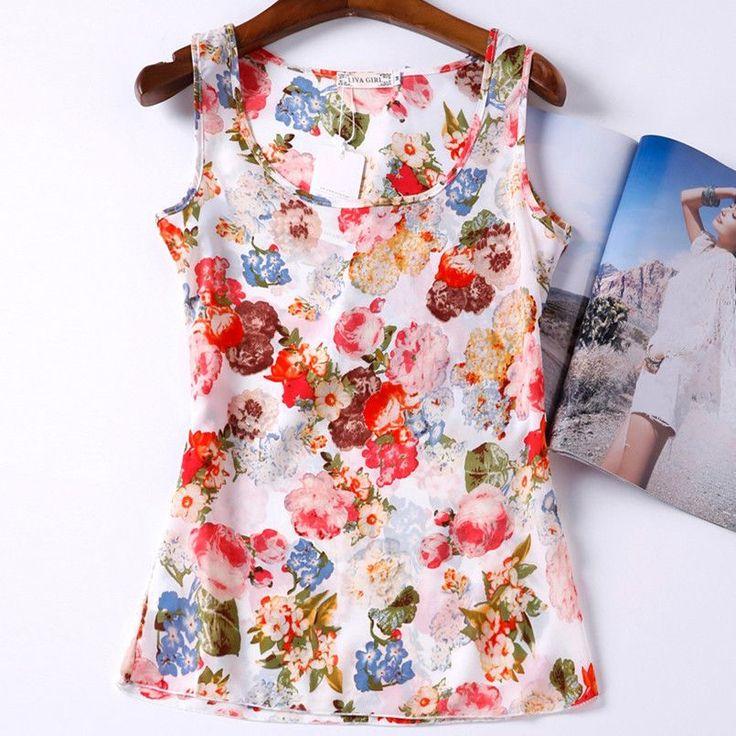 Check out our new 2017 Blusas Tank ...    http://www.elder-land.com/products/2017-blusas-tank-tops-shirt-vest-camisole-chiffon-flower-print-cheap-women-clothes-china-casual-sleeveless-camis-regata-feminina?utm_campaign=social_autopilot&utm_source=pin&utm_medium=pin