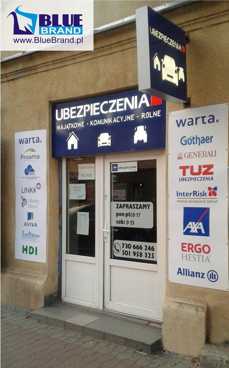 kasetony świetlne LED z dibondu, szyldy boczne - folia monomeryczna na blasze - projekt i wykonanie www.BlueBrand.pl #BlueBrand #AgencjaReklamowa #reklama