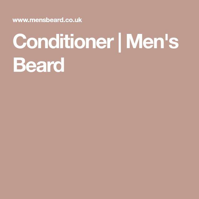 Conditioner   Men's Beard