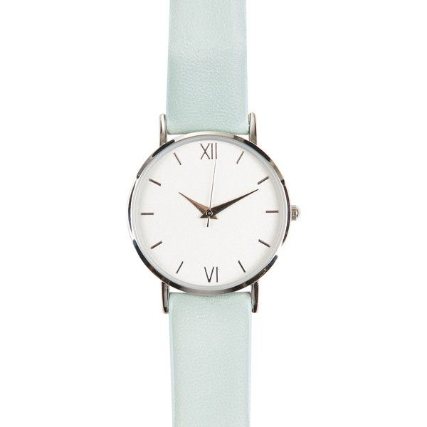 Mint Green Watch (10.830 CLP) ❤ liked on Polyvore featuring jewelry, watches, mint green watches, mint jewelry, mint green jewelry and mint watches