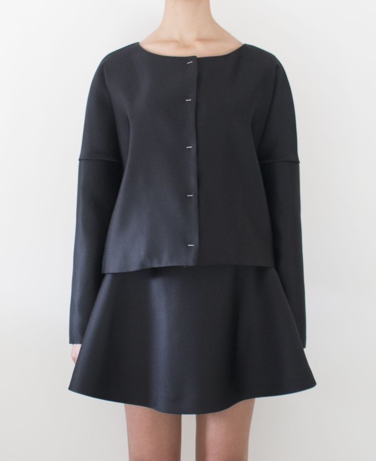 Adele silk jacket and Roxy silk skirt from Laetitia's FW 2014 capsule collection. #silk #jackets #laetitia #madeinitaly #womenswear #womenclothing #elegance #laetitiamadeinitaly  Discover more on www.laetitiamadeinitaly.com