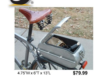 This is so cool ! Stone Cold Outdoor - Aluminum Bike Trunk (Unique Bike Accessories)