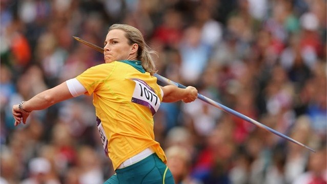 Kathryn Mitchell of Australia competes in the women's Javelin Throw Qualification on Day 11 of the London 2012 Olympic Games at the Olympic Stadium  /Photo/sport/General/01/37/51/111kathryn-mitchell-australia-competes-the-women-javelin1375111  Related tags