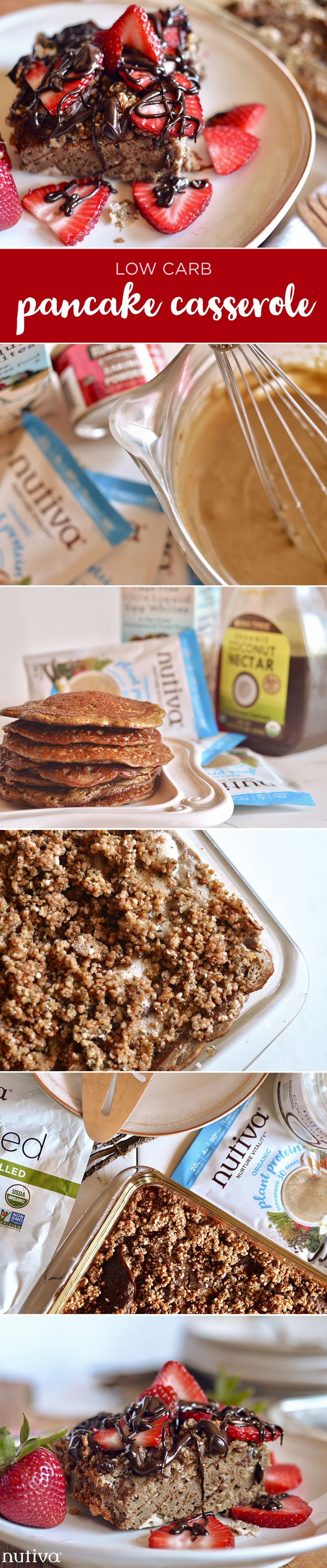 Low Carb Pancake Casserole Recipe kitchen.nutiva.com
