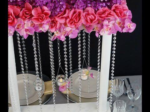 Dollar Tree Inspired:  DIY Having a Ball Valentine's Day Wedding Centerpiece - YouTube