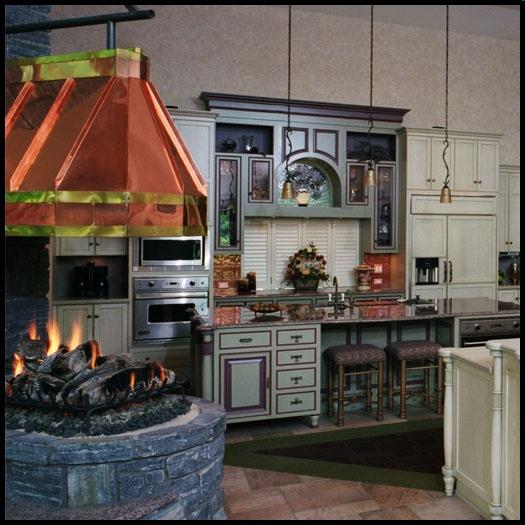Niesamowity projekt kuchni. Materiały do paleniska znaleźć można także u nas: http://vitcas.pl/zaroodporne-materialy-zdunskie-do-kominkow-i-piecow