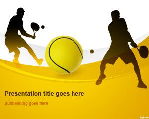 Free tennis ball PowerPoint template helps note down important details about your game #PowerPoint #templates