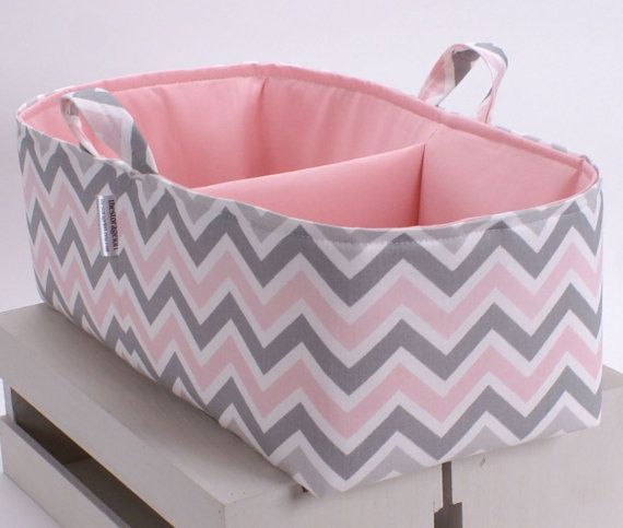Getting rid of the changing table now that my baby girl is such a wiggle worm and my mom is making her one of these adorable diaper caddy's