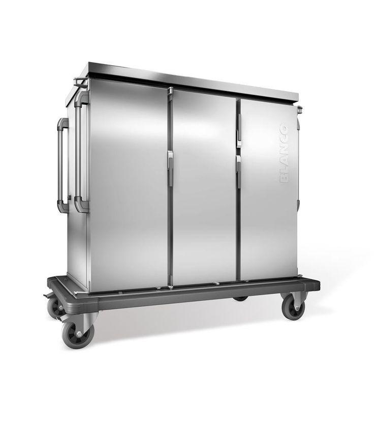 GTARDO.DE:  Tablettwagen 24 EN, doppelwandig, Verkleidung Edelstahl, 3 Flügeltüren, 3 Schränke, BxTxH 1554x783x1406 mm 3 599,00 €