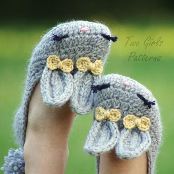 It's a cold wintery morning in Canberra and, boy, have my little tootsies been feeling it!  This is what I need right about now … aren't they just lovely?  Crochet your own bunny ballet slippers with this pattern on Etsy from TwoGirlsPatterns