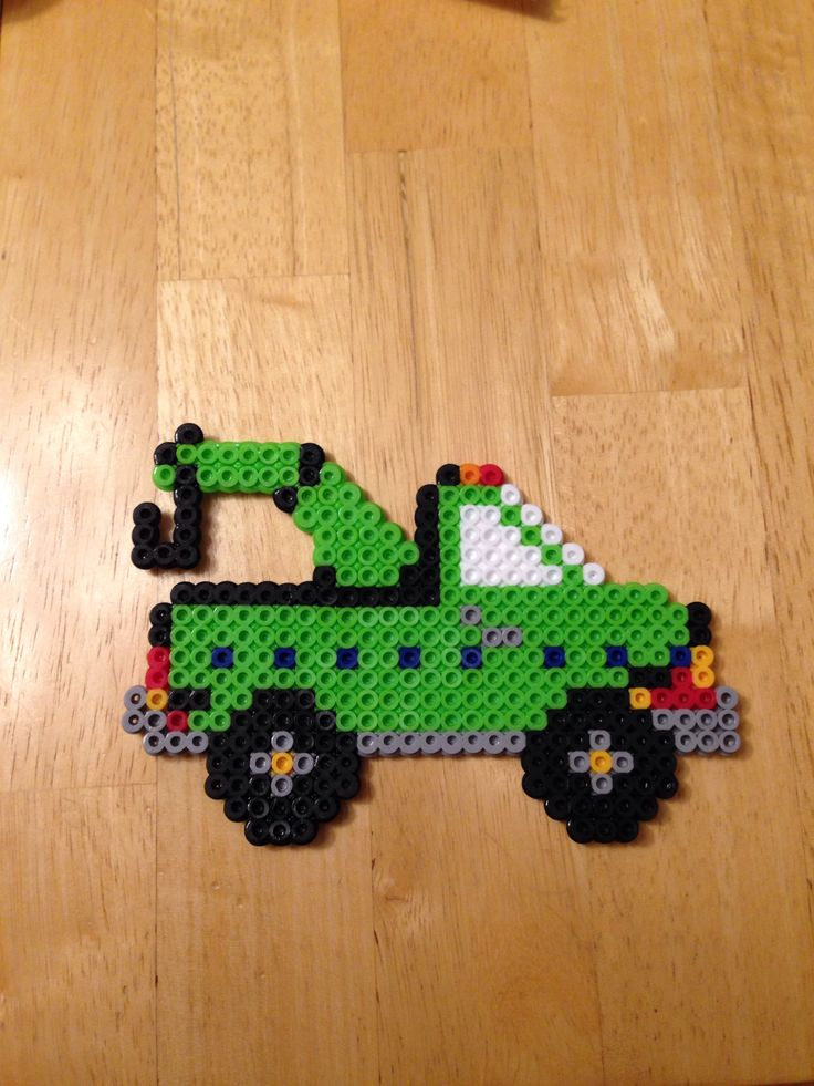Perler bead tow truck