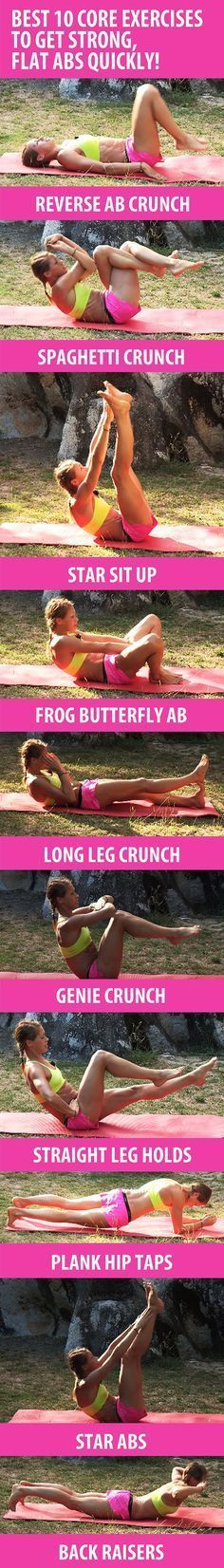 See more here ► https://www.youtube.com/watch?v=t6ic0NKYUMU Tags: fasting to lose belly fat, help losing belly fat, losing belly fat naturally - These 10 core exercises will help you sculpt six-pack abs, build core strength, and get rid of belly fat quickly. Recommended reps: BEGINNERS 8-10, INTERMEDIATE 10-15, ADVANCED 20-30+ #exercise #diet #workout #fitness #health
