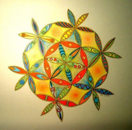 "Mandalala No.102, "" THE FLOWER OF LIFE - III"" . 2014,30 x 30 cm"