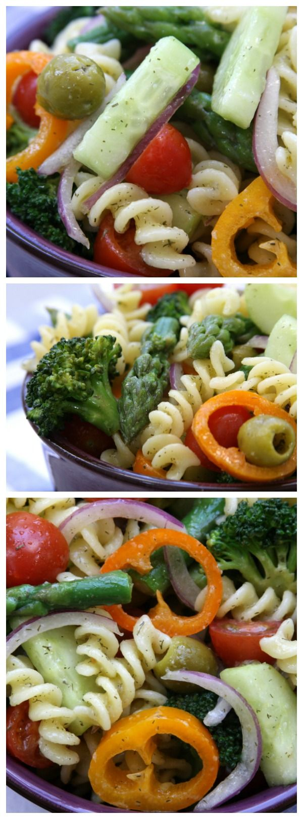 Springtime Pasta Salad recipe is an easy, light, savory and yet filling dish. Such a fun and tasty way to get your veggies in that both little ones and adults love. Perfect for cold lunches during the week.