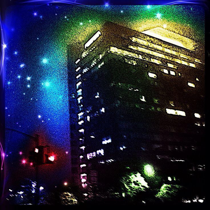 Foggy nights.  City nights.