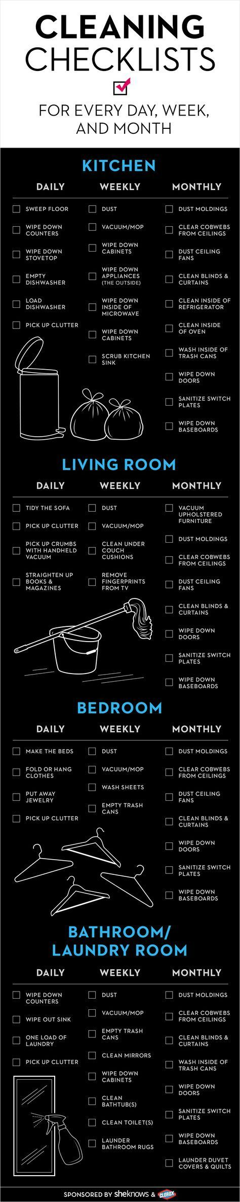 Keep your house in check with this cleaning checklist                                                                                                                                                                                 More