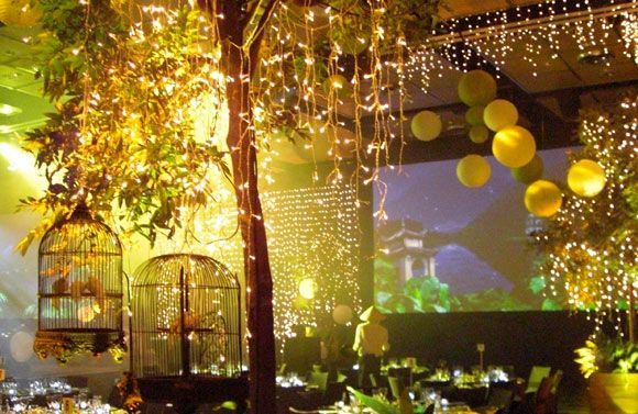 fairylights and lanterns