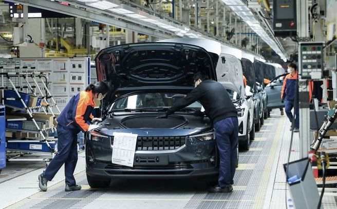 2020 Polestar 2 All Electric Car By Volvo Entered Into Its Production Phase In Luqio China Factory All Electric Cars Volvo Latest Cars