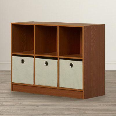 """Symple Stuff 24"""" Cube Unit Bookcase Finish: Cherry / Ivory"""