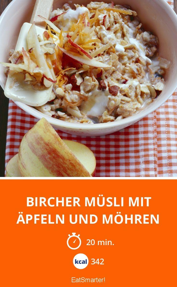 Bircher Müsli mit Äpfeln und Möhren   Kalorien: 342 Kcal - Zeit: 20 Min.  