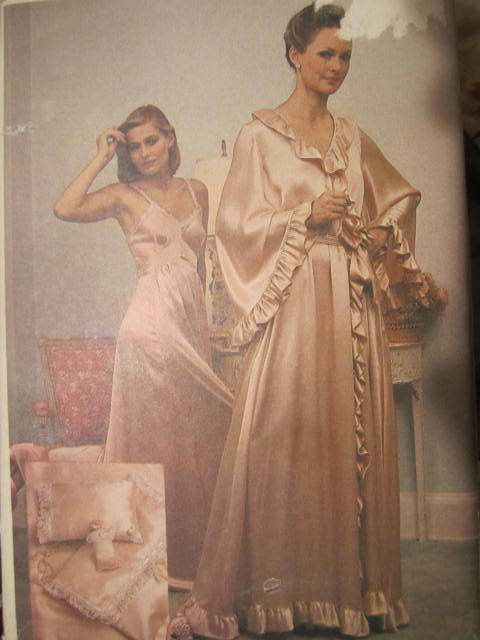 SeeSallySew.com - Lingerie Sachet Pillow Robe Belt Nightgown Bag Vogue 7876 Pattern Sz. 20, $18.00 (http://stores.seesallysew.com/lingerie-sachet-pillow-robe-belt-nightgown-bag-vogue-7876-pattern-sz-20/)