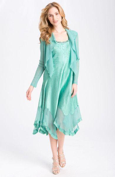 a4e84c826bb7ee Handkerchief Formal Dress   Komarov Handkerchief Hem Dress Jacket in Green  (waterfall) - Lyst   dresses for wedding in 2019   Dresses, Handkerchief hem  ...
