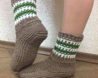 Venta De zapatillas de lana Handknit elástico calcetines de