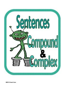 Compound, Complex Sentence Center Activity for small groups or independent work during guided reading. Students read a sentence and decide if it is a compound, or a complex sentence. Then students are prompted to write a few sentences.