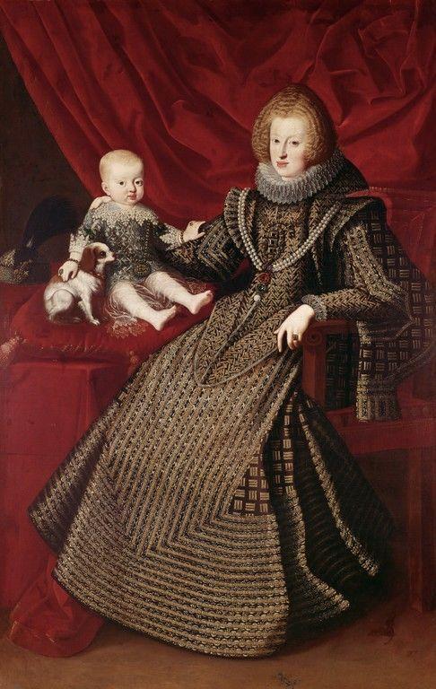 Maria Anna of Spain with her son Ferdinand, 1634, unknown Austrian Artist: