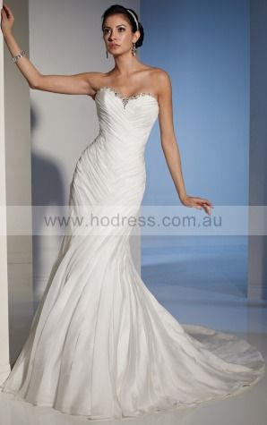 A-line Sleeveless Sweetheart Lace-up Floor-length Wedding Dresses feaf1079--Hodress