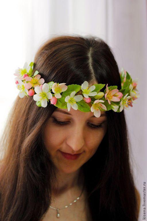 """Купить Венок на голову """"Весна"""" - венок из цветов, венок на голову, венок, венок для невесты"""