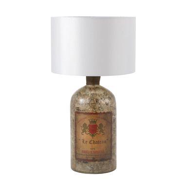 Dimond Lighting 169-014 Antique Bottle Table Lamp In Antique Mercury Glass