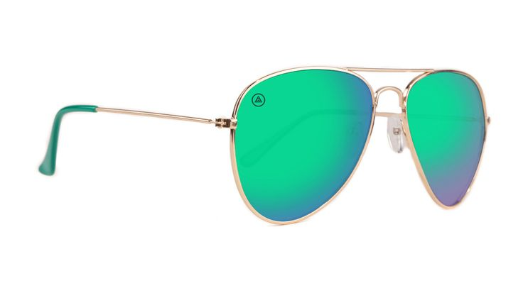 Green mirror aviator sunglasses for men and women, by Blenders Eyewear