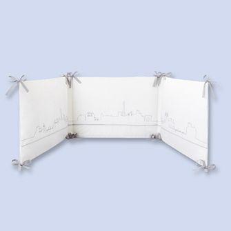 tour de lit gris blanc mixte pu 233 riculture jacadi chambre