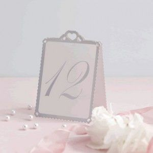 ginger ray silver heart table tent numbers great for a wedding or party event