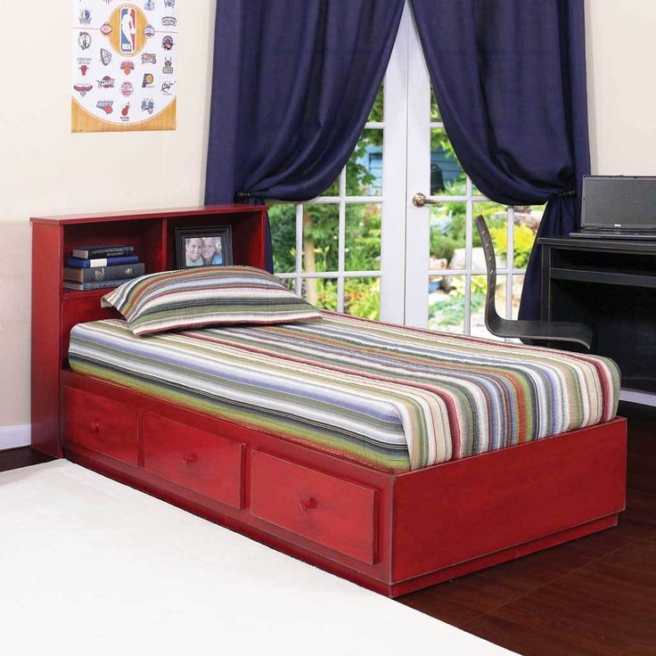 twin captains bed 3 drawers on metal tracks in birch