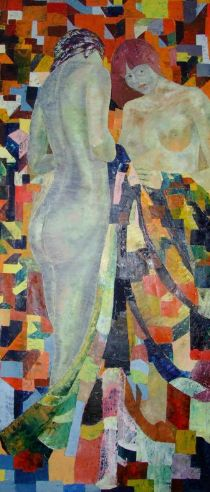 The lovers - Oil on canvas - art painting - Augusto Zerbi - www.augustozerbi.com