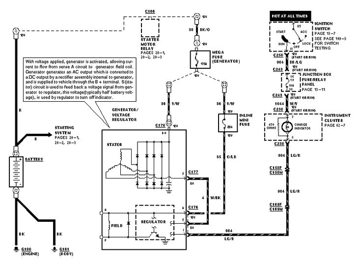 Image Ford Alternator Wiring Diagram Internal Regulator