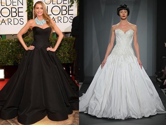The 2014 Golden Globes Red Carpet: Bridal Edition. Sophie Vergara