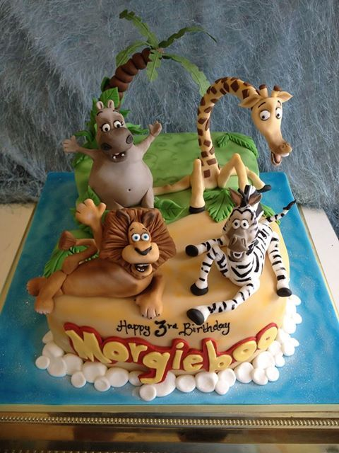 madagascar cake. Richard's Cakes This cake was a large size, feeds 40-50 and costs £95 x