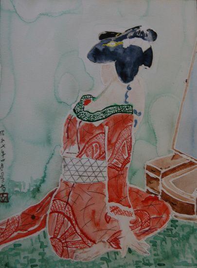 Japanse schone (Geisha), Japanese woman