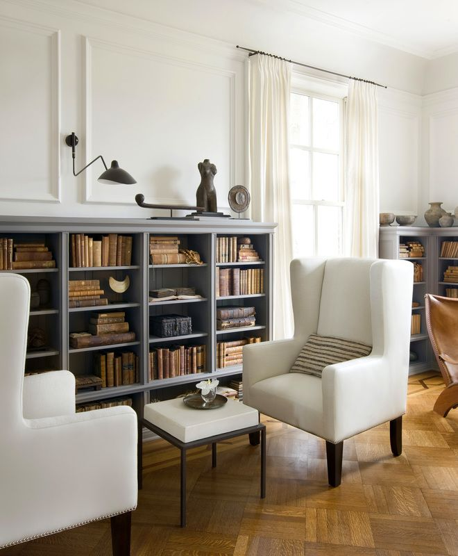 Michael del piero good design portfolio interiors contemporary eclectic traditional transitional family room great room library living room vignette