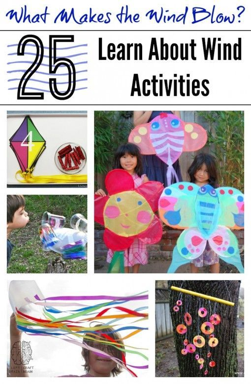 What Makes the Wind Blow 25 Learn About Wind Activities (art, crafts, science, books, printables and more!) from Left Brain Craft Brain #spring #STEM