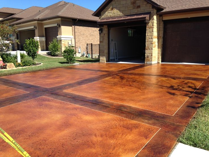 Stained Concrete Driveway Colors