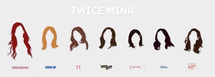 Mina's  hairstyle (Like OOH-AHH〜Heart Shaker)