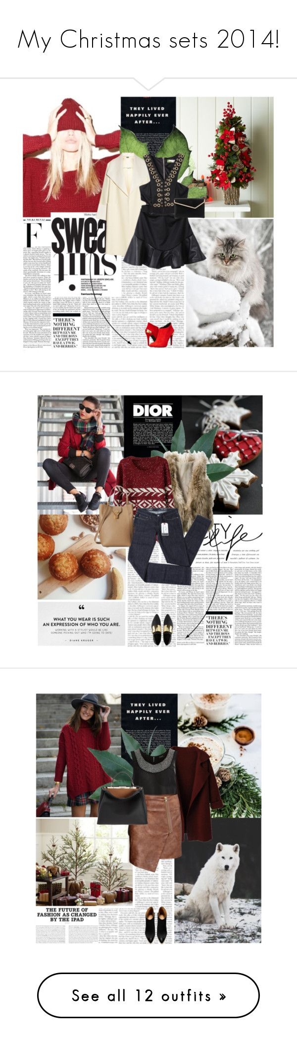 """My Christmas sets 2014!"" by qarlla ❤ liked on Polyvore featuring Nicki Minaj, Lara, ADAM, Love Moschino, Henri Bendel, Christian Dior, Forum, Levi's, ASOS and Oscar de la Renta"