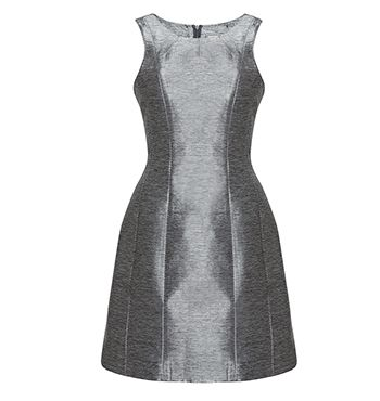 David Lawrence | DL Atelier - DL Atelier - Luxury Metallic Fleece Seam Detail Dress
